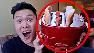 DIY HOT DOG TOASTER GADGET!! (DO NOT TRY THIS)