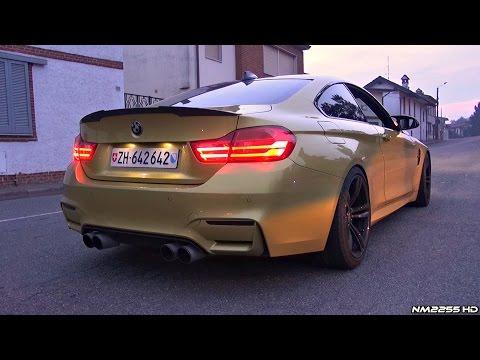 BMW M4 F82 with Eisenmann Catback Akrapovic Catless Downpipes LOUD Sound