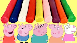 Play-doh Creations with Peppa Pig & Family using Cookie Cutters