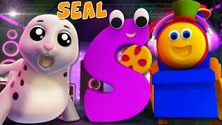 Phonics Letter S | Learning Street With Bob The Train | ABC | Alphabets Videos For Babies by Kids Tv