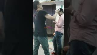 Angry Man shouting on Singapore MRT