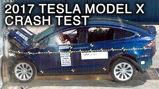 2017 Tesla Model X Frontal Crash Test