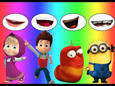 Colors for children Wrong Mouth Bad Baby Dora Masha Larva Minions Ryder Family Song Nursery