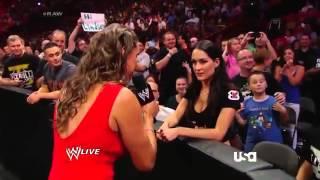 Brie bella and Stephanie McMahon segment and nikki vs rosa Cameron alicia and Eva Marie