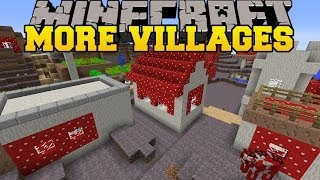 Minecraft: MORE VILLAGES (THEMED VILLAGES IN EVERY BIOME!) Mod Showcase