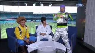 Cricket commentary team go nutters in costumes (feat David Lloyd as Elvis)