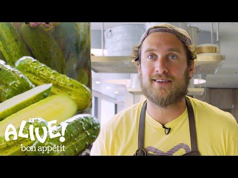 Brad Makes Crunchy Half Sour Pickles It s Alive Bon Appétit