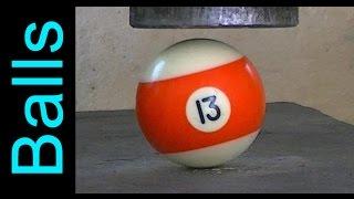 Billiard ball vs Hydraulic Press