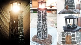 Lighthouse Lamp from Natural Stone