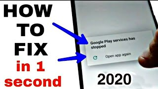 How to fix unfortunately google play service has stopped 2018:google play service keep stopping
