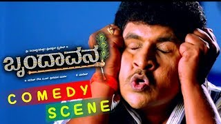 Kannada Comedy Scenes | Sai Kumar Scolds Gilli Comedy Scenes | Brundavana Kannada Movie