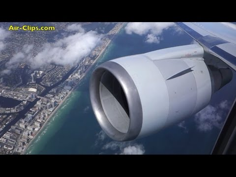 American Airlines Boeing 767-300 Business Class Milan-Miami FANTASTIC [AirClips full flight series]