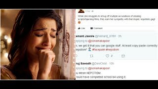 Sonam Kapoor gets trolled for defining 'nepotism' on twitter