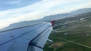 Take off Air Canda Rouge Flight AC1884 Vancouver YVR to Los Angeles LAX Airbus A319