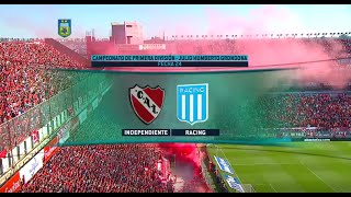 Fútbol en vivo. Independiente - Racing. Fecha 24 de Torneo de Primera División 2015. FPT.