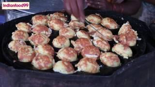 Tasty Egg Kuzhi paniyaram - Muttai Kuzhi paniyaram - Egg Paddu - Gunta Ponganalu _Indian street food