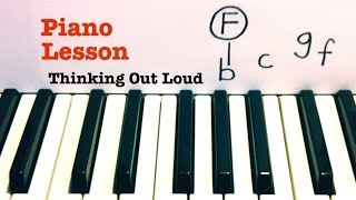 Thinking Out Loud ★ Piano Lesson ★ TUTORIAL ★ Ed Sheeran