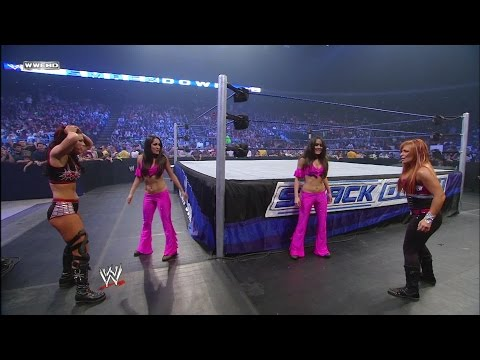 Nikki Bella makes her debut as The Bella Twins secret is out SmackDown Nov. 7 2008