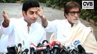 AISHWARYA, ABHISHEK AND AMITABH BACHCHAN INTERACT WITH MEDIA AFTER ASH RETURNS HOME
