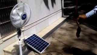 Belifal Solar Pedestal DC 12V Fans Using Direct Solar Panel Bengali Version
