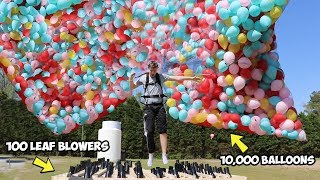 I Flew Using Only Balloons AND Leaf Blowers