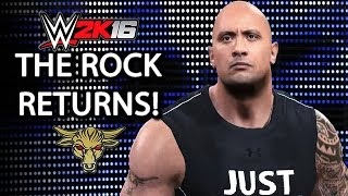 WWE 2K16 - The Rock Returns To Save Roman Reigns!