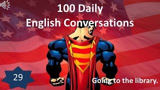 Daily English Conversation 29: Going to the library.
