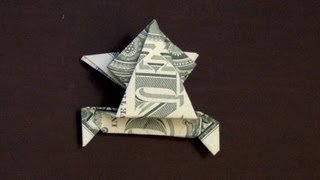 Dollar Origami Jumping Frog Tutorial - How to make a Dollar Frog