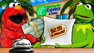 Kermit the Frog and Elmo's Hotel Room Shenanigans!