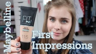 Maybelline Fit Me: Matte & Poreless First Impressions