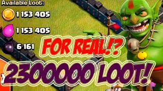 BIG 2.3 MILLION LOOT ''ONE RAID'' | Clash Of Clans | HIGHEST EVER GOLD ELIXIR GRAB?