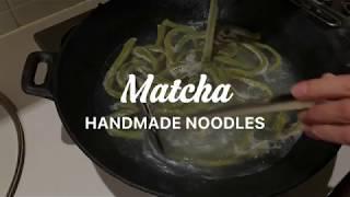 matcha udon cooking