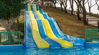 Dreamland Aqua Park - Slide Five   Funny Multi Racer Slide Onride