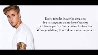 Justin Bieber - Hotline Bling Remix Lyrics