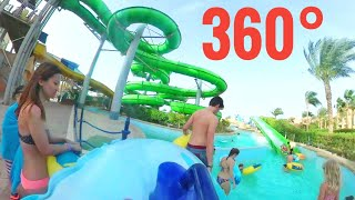 [360 video VR] WOW World First waterslide coaster New Best Fast water park slide Google Cardboard