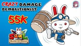 Crazy Damage Demolitionist 55k Damage - Seal Online Blade Of Destiny