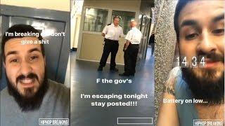 Man Snapchats Prison Escape