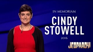 Jeopardy! - Tribute to Cindy Stowell (Dec. 21, 2016)