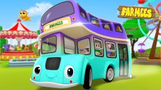 Wheels On The Bus | Kindergarten Nursery Rhymes For Children