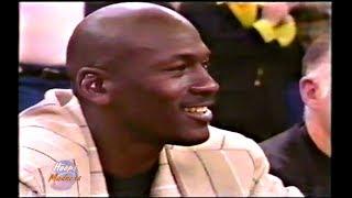 Kobe Bryant Monster Block on John Starks! (Michael Jordan Watching)