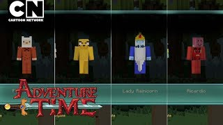 CN Playin   Adventure Time Minecraft: Characters & Items!   Cartoon Network