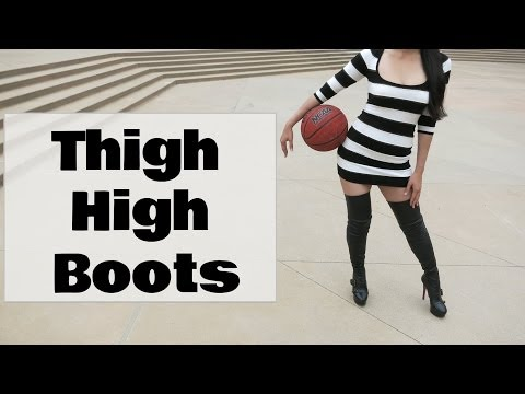 Xxx Mp4 Sexy Girl In Leather Thigh High Boots And Basketball Video 3gp Sex