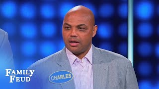 Charles Barkley's CRAZY answer... ain't so crazy? | Celebrity Family Feud