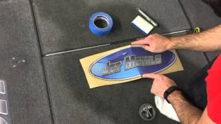 Bass Boat Carpet Graphics Install by ZDecals
