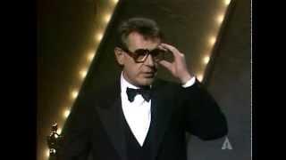 Milos Forman winning the Oscar® for Directing