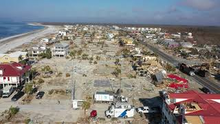 Aerial Over Mexico Beach, FL - 16Oct18