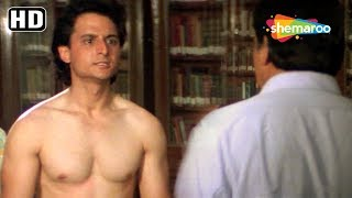 Comedy Scene of Sanjay Dutt - Mamta Kulkarni - Govinda from Andolan - 90