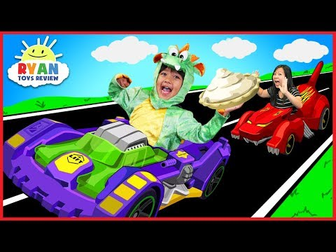 Ryan BECOMES A DRAGON with OSMO Hot Wheel™ MindRacers Family Fun Loser gets Pie in the face