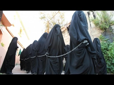 ISIS Slave Markets of Naked Women Being Sold