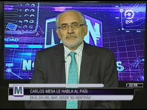 VIDEO EN NM Carlos Mesa le habla al país en el Día del Mar desde NM NO MENTIRÁS